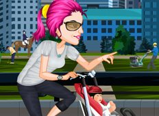 Baby Stroller Bike Game - Bike Games